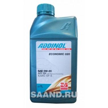 Масло моторное ADDINOL Economic 020 0W20 синтетика (1L) API SN
